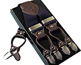 Pelle Bretelle clip-on 6 clip elastiche di Y-figura regolabili, Unisex,  Blu