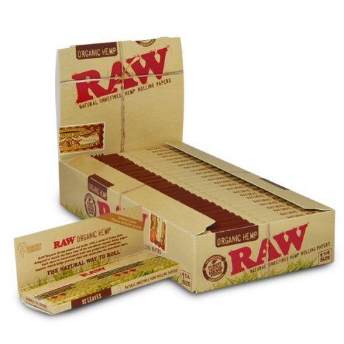 Raw 1 -  1/4 di canapa biologico di Karitè cartine per sigarette - 5 Natural quinterno di Trendz