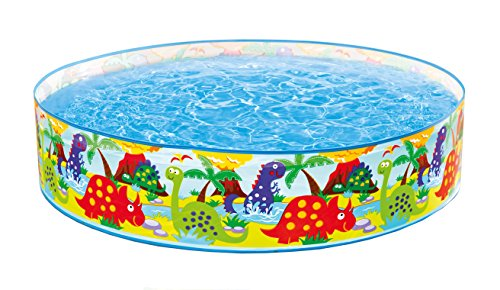 Intex Kinderpool Snap-Set-Pool Happy Animal, Mehrfarbig, Ø 122 x 25 cm