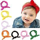 Jastore® Bebé Niña Bandas conejo lindo tocado recién nacido bonita banda de pelo/cabello(8 colores)