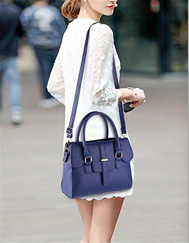 Xinmaoyuan Borse donna semplice Lady Borsa portatile Candy Borsa a Tracolla piccolo pacchetto laterale,luce blu Blu scuro