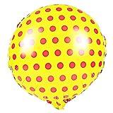sourcingmap Alufolie Runde Form Balloon Hochzeit Geburtstag Party Dekoration Gelb 18 Zoll DE