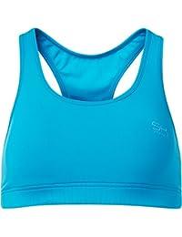 Sportkind Soutien-gorge de sport / tennis / fitness avec maintien moyen pour fille et femme en turquoise tailles 11 ans à XL