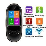 M3M 72 Sprachen Übersetzer-Gerät, 2,0 Zoll 3.5D-Touchscreen Elektronische Rekorder Simultanübersetzung, Unterstützung Offline-Übersetzung Von 8 Sprachen (Upgrade)