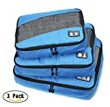 Packing Cubes,MOACC 3pc Set Bag Travel Luggage Organizers Blue