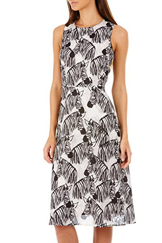 Sugarhill Boutique Womens Ladies Liza Zebra Print Dress Sleevless A Line Shape