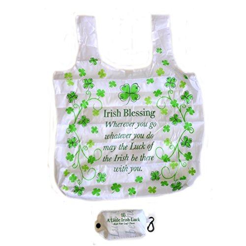 4 Leaf Clover-Kollektion, Faltbare Einkaufstasche mit Knopf zum Schließen (Fashion-gepäck-kollektion)
