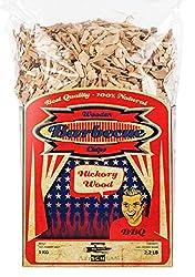 Axtschlag Räucherchips | Räucherholz zum Grillen & Smoken & Räuchern | 100 % Natur Pur | Für perfektes Grillen | für Holzkohle-, Gas- und Elektro-Grill | XXL Packung 1000 g | Hickory