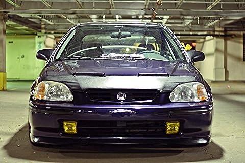 VMS Racing 96-98 Honda CIVIC HOOD BRA Front End Mask for B16 B18 D16 SOHC DOHC 2dr 3dr Hatch Hatchback 4dr JDM Style 96 97 98 1996 1997 1998