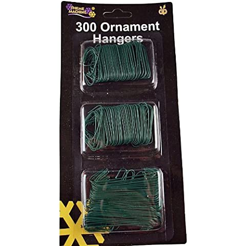 Packet Of 300 Christmas Baubles / Tree Ornaments Hangers / Hooks by DP
