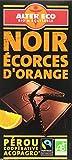 Alter Eco Tablette de Chocolat Noir Ecorces d'Orangs Bio et...