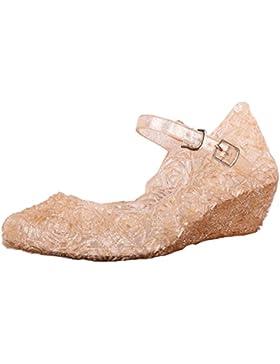Tyidalin Niña Bailarina Zapatos de Tacón Disfraz de Princesa Zapatilla de Ballet Para 3 a 12 Años EU28-33(Color...
