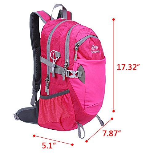 Imagen de egogo 25l resistente al agua  de senderismo al aire libre / senderismo  / bolsa  escalada deportiva morral con cubierta de lluvia s2986 rosa  alternativa
