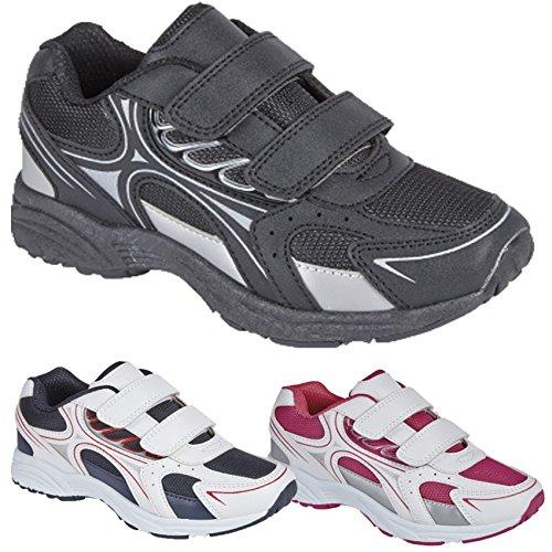 Jungen Mädchen Kids Infant Turnschuhe Flach Spitze bis Schule Pumpe Casual Sport Schuhe Neu Weiß/Rosa