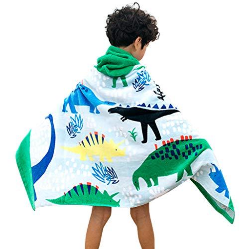 Gogokids Kinder Kapuzen Strandtücher Bademantel Badetücher - Mädchen Jungen 100% Baumwolle Sporthandtücher Baby Bade Handtücher Badeponcho Kapuzentuch