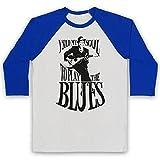 Photo de Inspired Apparel Inspire par Robert Johnson Sold My Soul Officieux 3/4 Manches Retro T-Shirt de Base-Ball par Inspired Apparel