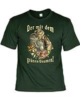 Witziges T-Shirt für Gärtner - Der mit dem grünen Daumen - Lustiges Funshirt für Garten und Blumen Freunde