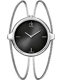 Calvin Klein Damen-Armbanduhr Analog Quarz Edelstahl K2Z2S111