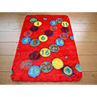 Rugs Supermarket Kids Faux Fur Sheepskin Numbers Rug