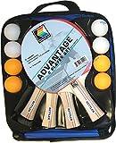 Kettler Advantage Indoor Tischtennis Bundle: 4Player Set (4Schläger/Paddel und 8Bälle)