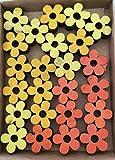 Streudeko Holz 24-teilig Blumen, Vögel, Schmetterlinge 3 Motive zur Auswahl Zum Basteln und klebenzum kleben Geeignet Streudekoration Dekoration Frühling Sommer Herbst (Auswahl Blumen)
