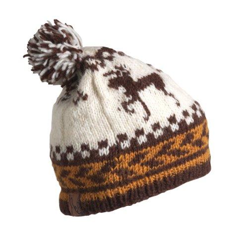 Schildkröte Fell Damen Nepal Kris Hand Knit Wolle Hat, damen, braun (Nordic Knit Hat)