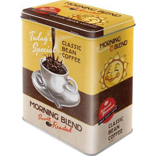 Nostalgic-Art 30116 Coffee und Chocolate Morning Blend, Vorratsdose L