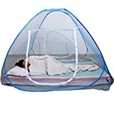 #3: Best4U Mosquito Net Folding Portable For Double Bed Insect Protection Repellent Shield Home &Travel (Blue)