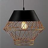 Lampadario a bracci illuminazione d'arte del ristorante lampadario a gabbia semplice d'uccello americano