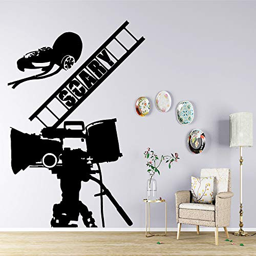 jiuyaomai Coloré Cinéma Film Film Stickers Muraux Vinyle Auto-Adhésif Papier Peint pour Garçons Chambre Décoration Stickers Murale Affiche White 42cm X 63cm