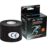 Agam A -Tape Kinesiology Waterproof Spandex Cotton Tape For Knee, Calf & Thigh Support - Black (5 Mtr X 5 Cm)