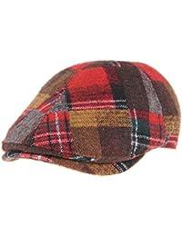 WITHMOONS Coppola Cappello Irish Gatsby Mens Winter Flat Cap Tartan Check  Wool Knit Ivy Hat SL3435 41a30b20b9a2