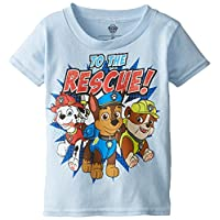 PAW Patrol Boys' Toddler Group Short Sleeve T-Shirt, Light Blue, 5T