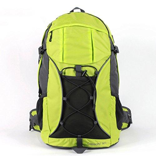 AMOS Outdoor wasserdichte Männer und Frauen Bergsteigen Tasche 32L Reiten Wanderrucksack Grün