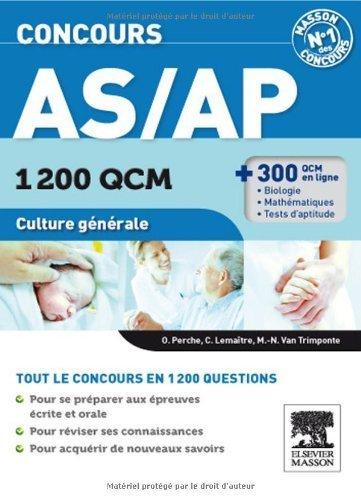 Concours AS/AP 1 200 QCM Culture générale de Olivier Perche (9 novembre 2011) Broché