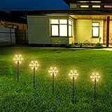 LED Solar Garden Light, 5 Pack Solar Christmas Snowflake Shape Path Lights Waterproof Security Lights, Solar Powered Stake Light Landschapslamp voor Pathway Yard Patio Garden Decoration