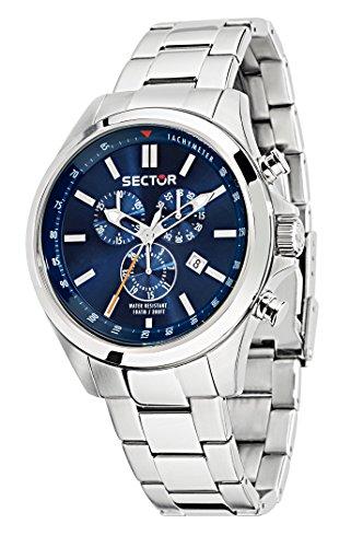 Sector no limits orologio da uomo cronografo al quarzo con cinturino in acciaio inox – 180