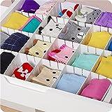 6verstellbare Schublade Schindel Trennwand Partition Schrank Gitterrostablagen Organizer Kleiderschrank DIY Viel