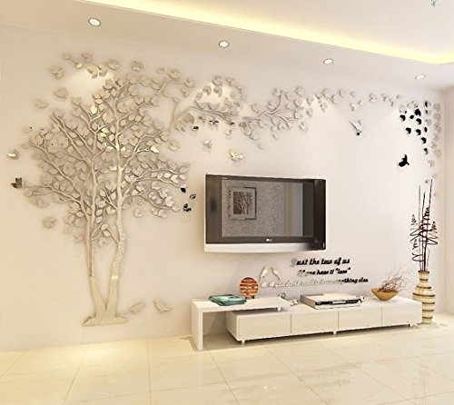 Colorfulworld Giant Tree Wandaufkleber Wall Stickers 3D Baum Wandaufkleber Art Home Decals for Room...