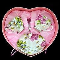 ZHGI Unione tazza da caffè set 6 pezzi di ceramica bone china tazza da caffè tazza da caffè con piattino cucchiaio,un