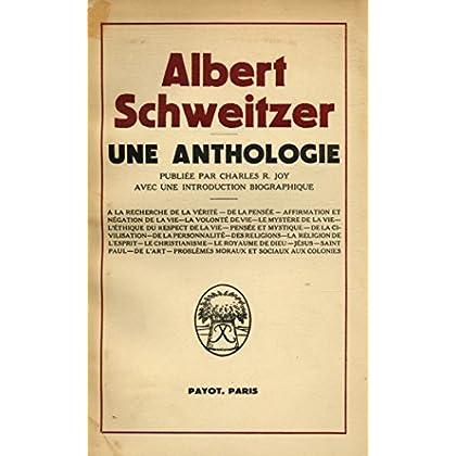 Une anthologie / Schweitzer,Albert / Réf30432