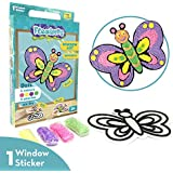 Imagimake Fleximos Butterfly Peel & Stick Window Sticker – DIY Dotz Air Dry Clay Art Set – for Girls and Boys 3 Years+ (Butterfly)