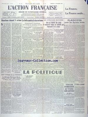ACTION FRANCAISE (L') [No 278] du 26/11/1943 -...