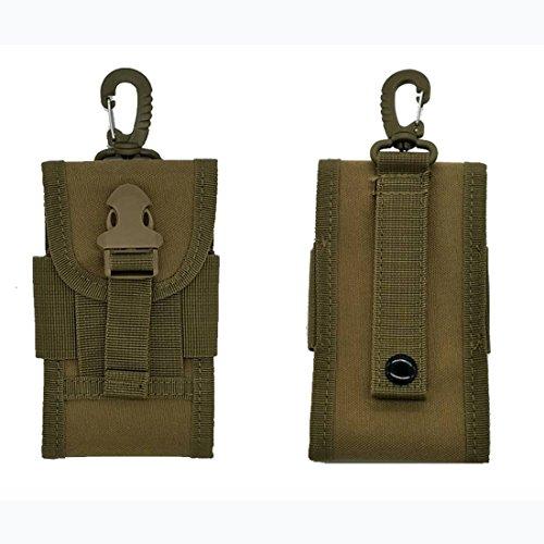 11,4cm Oxford Outdoor Army Tactical Tasche für Handy Haken PU Tasche schwarz Khaki