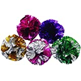 Meetory 5x Crinkle Balls Crackle Paper Rustle Sound Ball Fun Activity Play Toy for Cat Kitten Pet Random Color