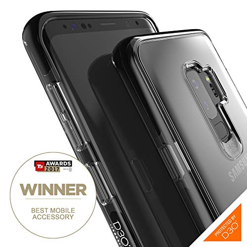 Gear4 Piccadilly Klarsichthülle mit verbessertem Stoßschutz [D3O-geschützt], schlankes, Robustes Design für Samsung Galaxy S9 Plus – Schwarz