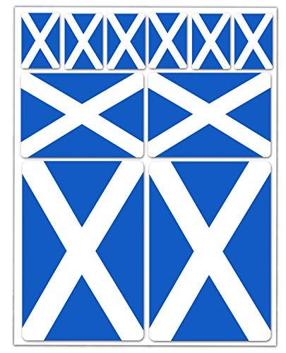10 x PVC Adesivi Stickers Bandiera Nazionale Scotland Scozia Scozzese per Auto Moto Finestrìno Porta Casco Scooter Skateboard Bici PC Laptop Tablet Tuning D 35