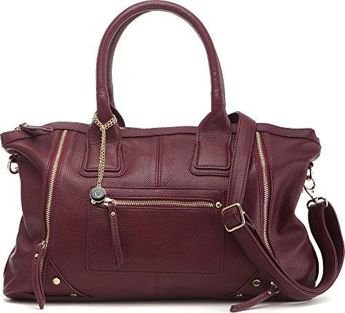 Masquenada, Borsette Da Donna, Borse, Shopper, Tote-bag, 48x28x12 Cm (lxxh), Colore: Taupe Bordeaux (bordeaux)