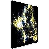 Feeby. Tableau Déco - 1 Partie - 40x50 cm, Impression sur Toile Décoration Murale Image Imprimée, Barrett Biggers - Anime Jaune
