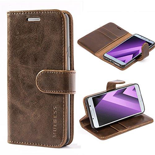 Mulbess Ledertasche im Ständer Book Case / Kartenfach für Samsung Galaxy A3 (2016) Tasche Hülle Leder Etui,Vintage Braun (nicht für das Galaxy A3 - A300F von 2015)
